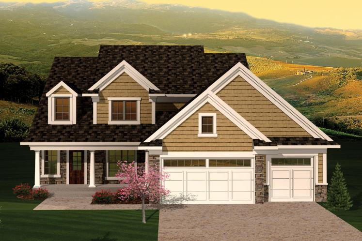 Traditional House Plan -  21514 - Front Exterior
