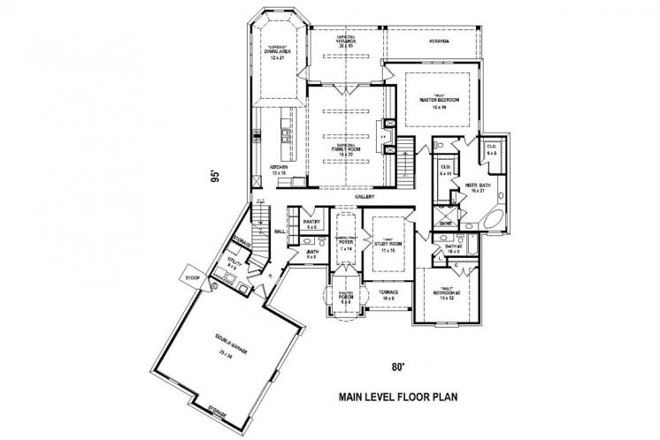 Classic House Plan -  21522 - 1st Floor Plan