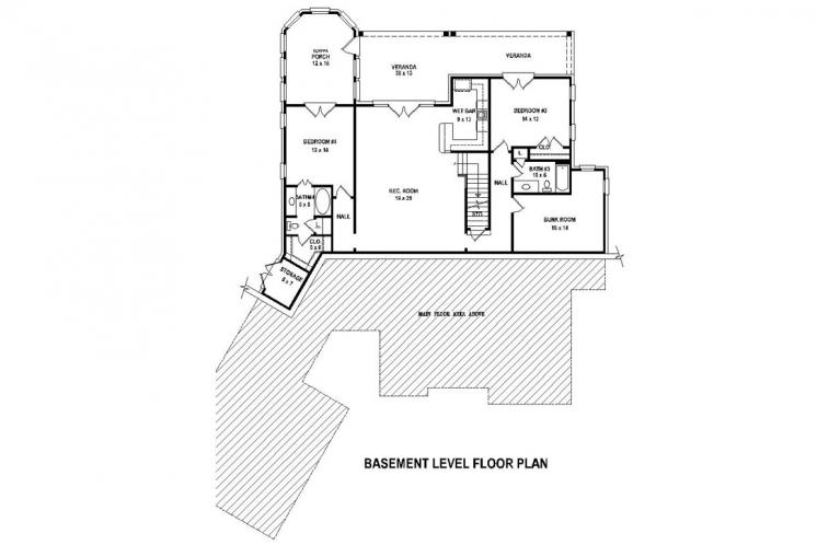 Craftsman House Plan -  21522 - 2nd Floor Plan