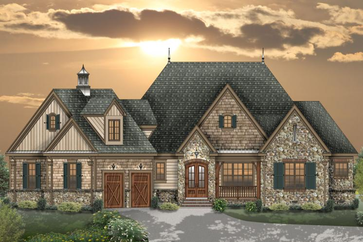 Craftsman House Plan -  21522 - Front Exterior