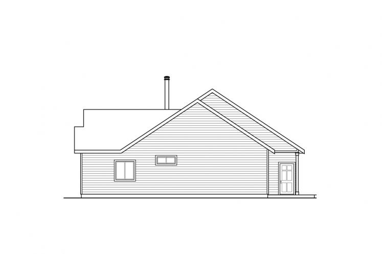 Country House Plan - Hayden 21531 - Right Exterior