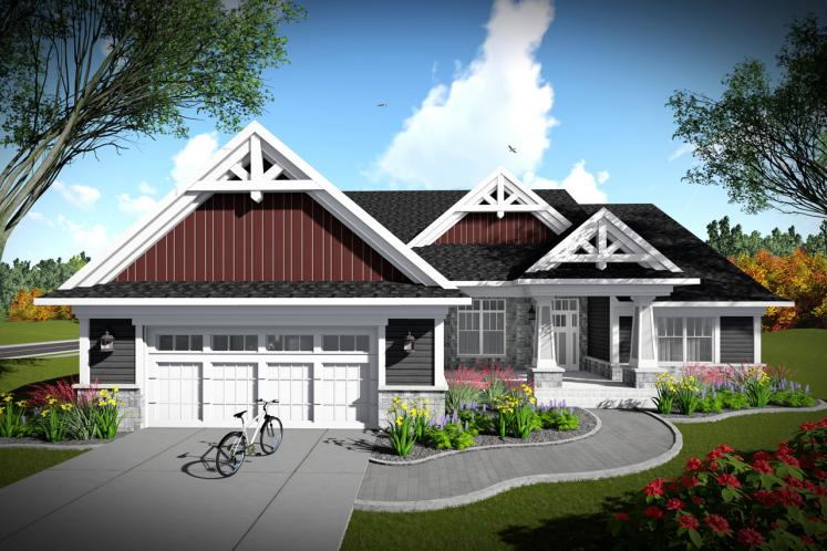 Craftsman House Plan -  21556 - Front Exterior