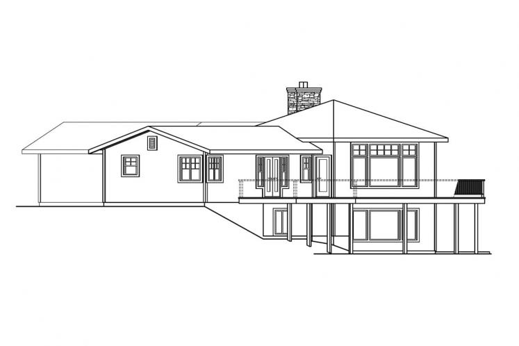 Lodge Style House Plan - Viewcrest 21625 - Right Exterior