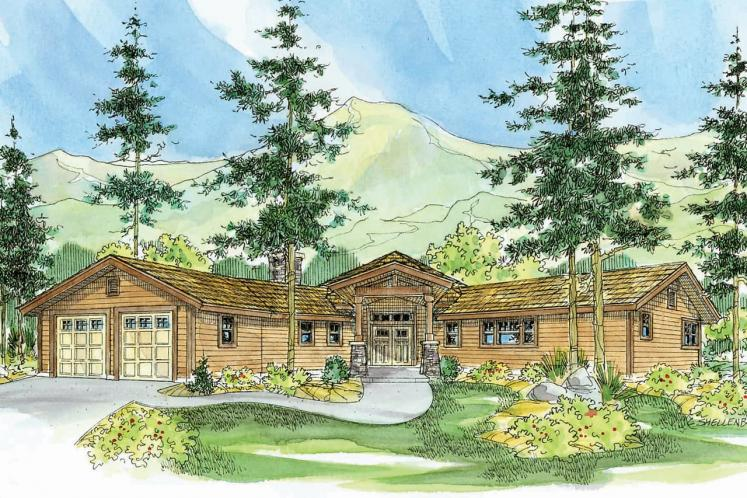 Lodge Style House Plan - Viewcrest 21625 - Front Exterior