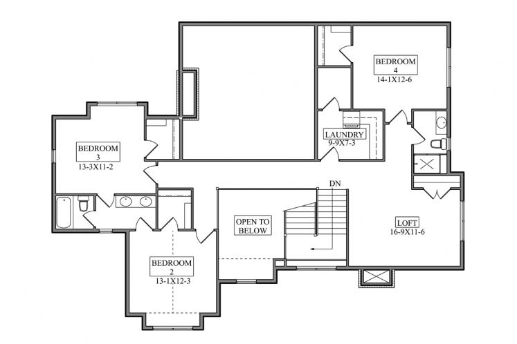 Farmhouse House Plan - Mission Creek 21654 - 2nd Floor Plan