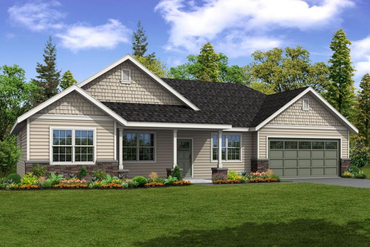 Ranch House Plan - Hyacinth 21658 - Front Exterior