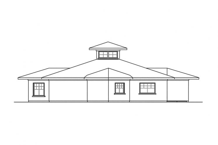 Southwest House Plan - Flora Vista 21668 - Rear Exterior