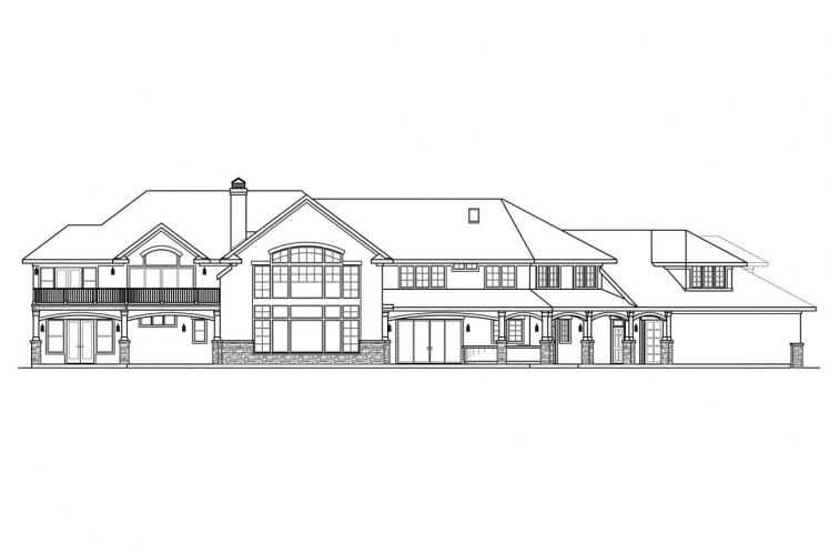 European House Plan - Jacksonville 21669 - Rear Exterior