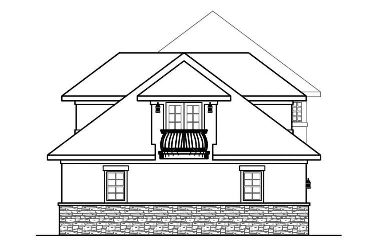 Southwest House Plan - Jacksonville 21669 - Left Exterior