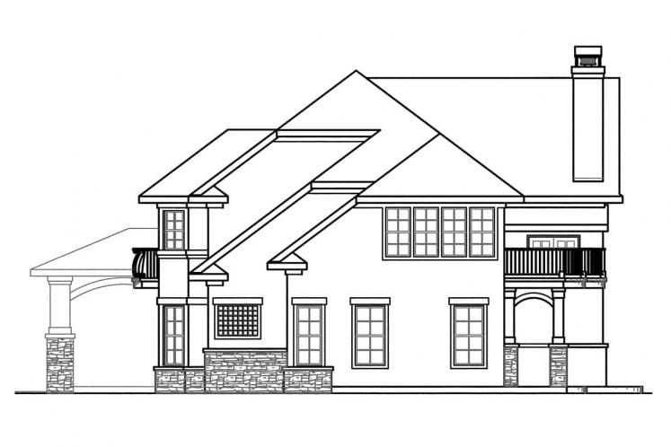 Mediterranean House Plan - Jacksonville 21669 - Right Exterior
