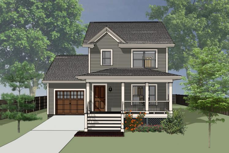 Craftsman House Plan -  21710 - Front Exterior
