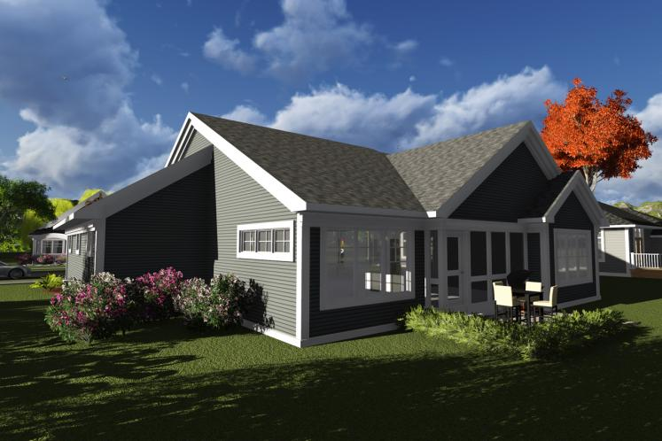 Traditional House Plan -  21716 - Rear Exterior
