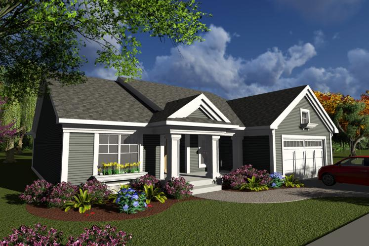 Ranch House Plan -  21716 - Front Exterior