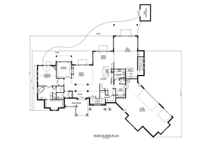 Country House Plan - Shore Side 21755 - 1st Floor Plan
