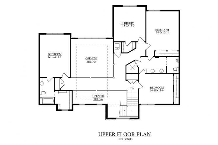 European House Plan - Shore Side 21755 - 2nd Floor Plan