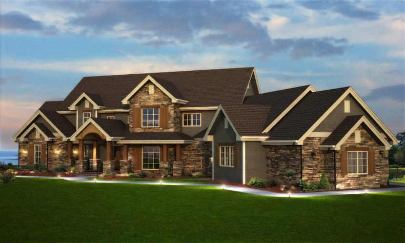 Country House Plan - Shore Side 21755 - Front Exterior