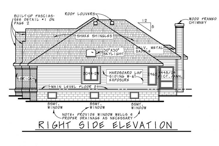 Ranch House Plan - Mansfield-II 21858 - Right Exterior