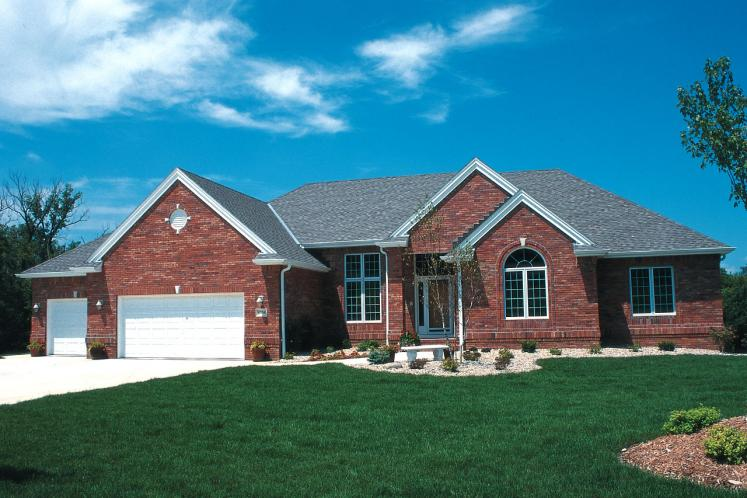 Traditional House Plan - Mansfield-II 21858 - Front Exterior