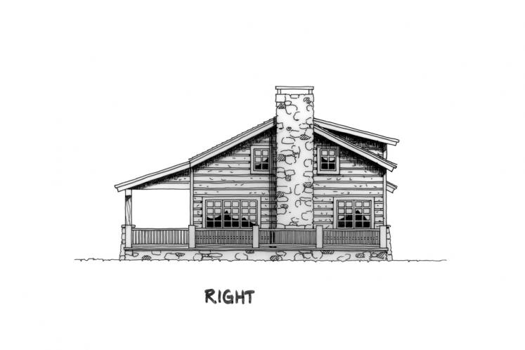 Lodge Style House Plan - Eagleview 21909 - Right Exterior