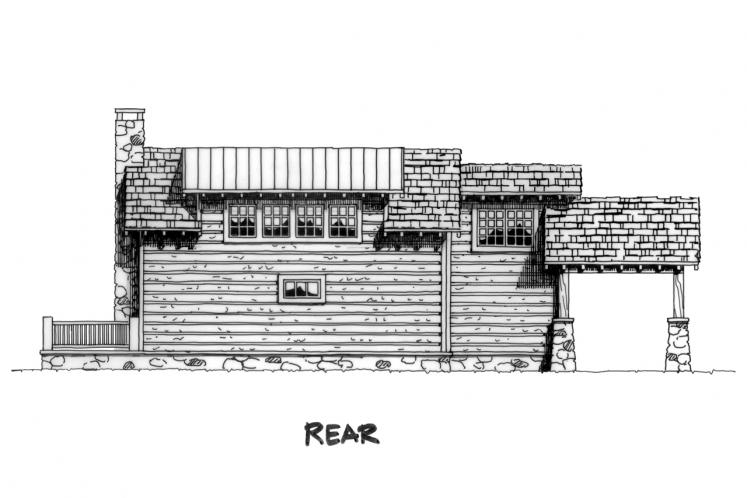 Cottage House Plan - Eagleview 21909 - Rear Exterior