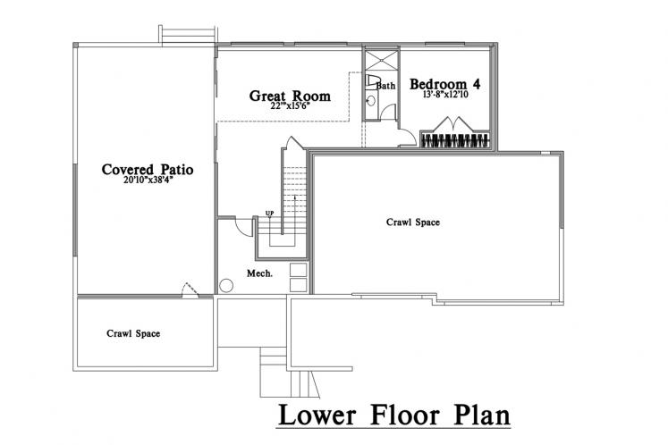 Modern House Plan -  21911 - Basement Floor Plan