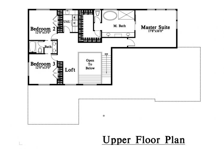 Contemporary House Plan -  21911 - 2nd Floor Plan