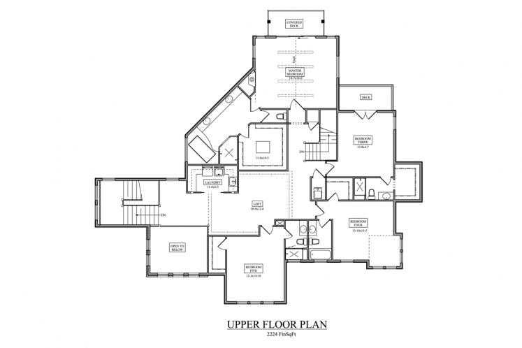 Contemporary House Plan - Melbourne 21945 - 2nd Floor Plan