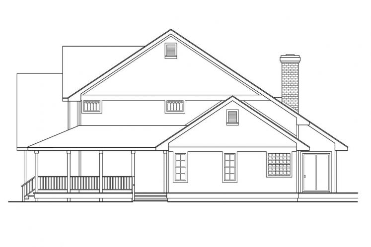 Country House Plan - Richland 22040 - Right Exterior