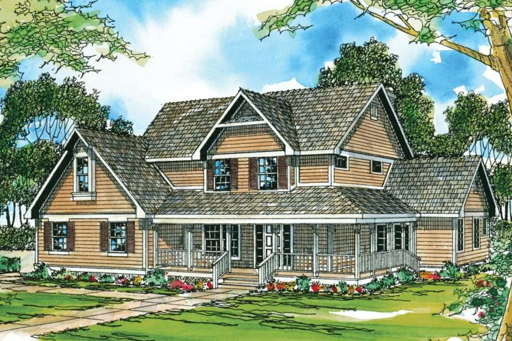 Country House Plan - Richland 22040 - Front Exterior