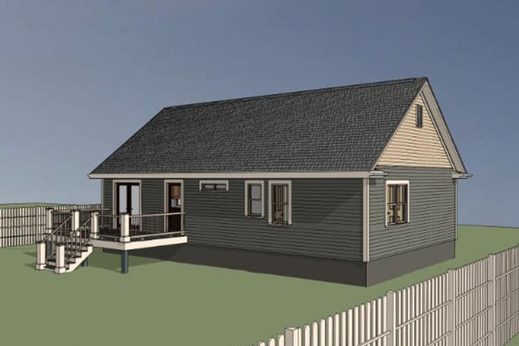 Cottage House Plan -  22046 - Left Exterior