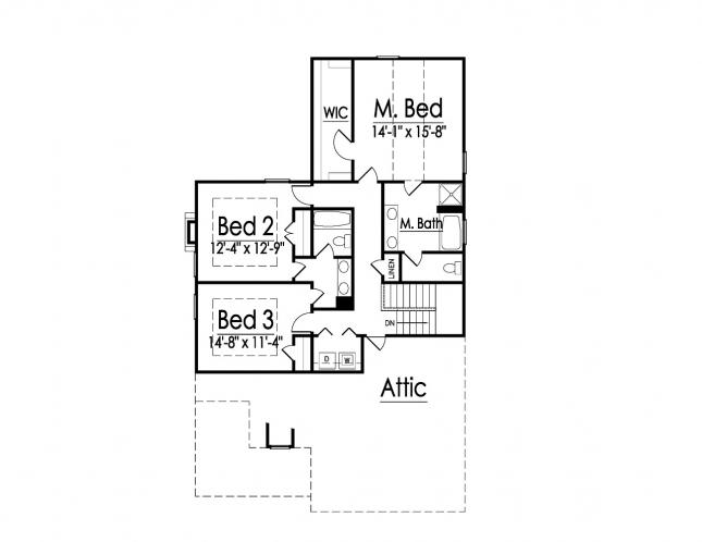 Traditional House Plan -  22054 - 2nd Floor Plan