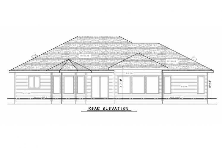 Tuscan House Plan - Del Home 22058 - Rear Exterior