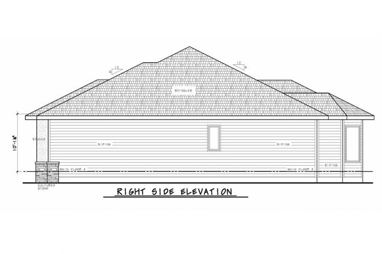 Tuscan House Plan - Del Home 22058 - Right Exterior