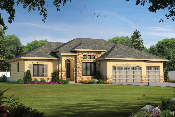 Country House Plan - Del Home 22058 - Front Exterior