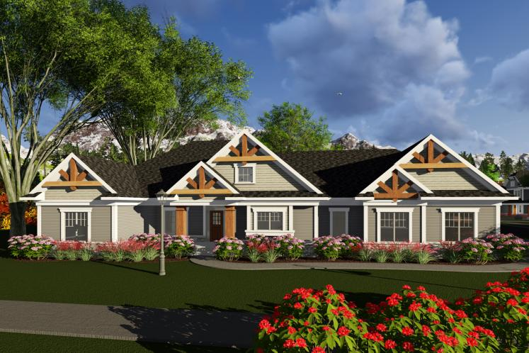 Craftsman House Plan -  22074 - Front Exterior