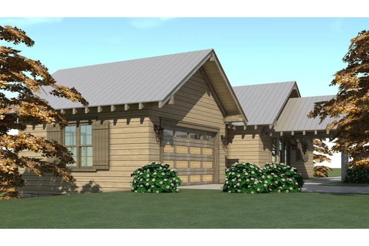 Lodge Style House Plan - Liberty Cabin 22119 - Right Exterior