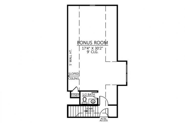 Southern House Plan - Poydras 22155 - 2nd Floor Plan