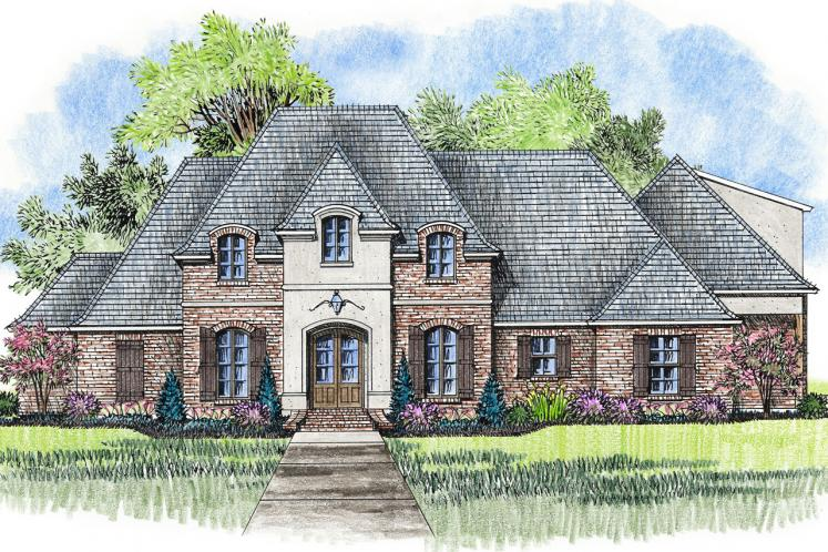 European House Plan - Poydras 22155