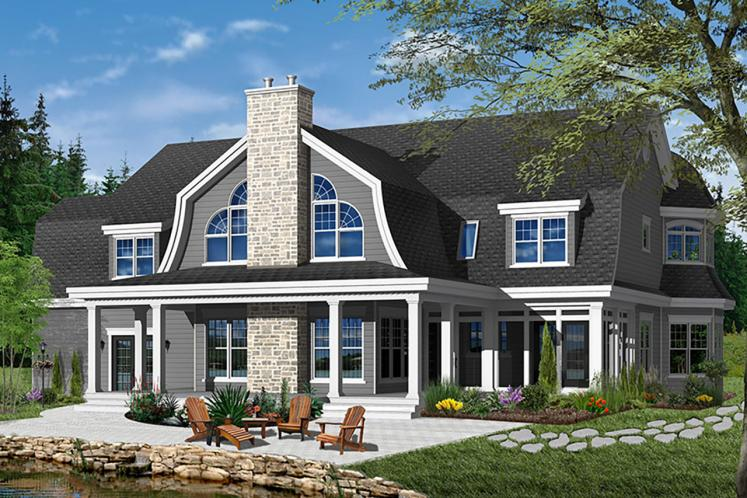 Country House Plan - Moretti 22315 - Rear Exterior