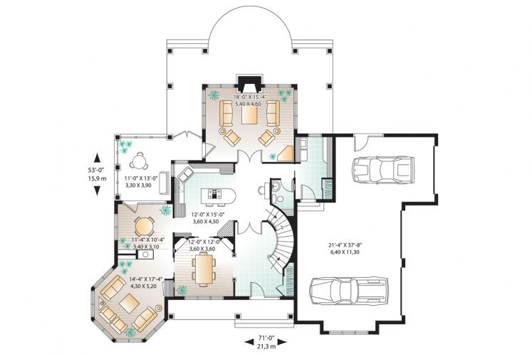 Ranch House Plan - Moretti 22315 - 1st Floor Plan
