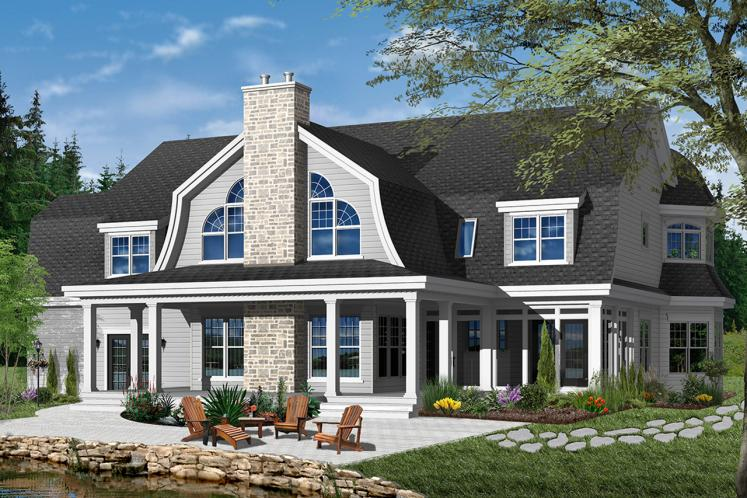 Farmhouse House Plan - Moretti 22315 - Rear Exterior
