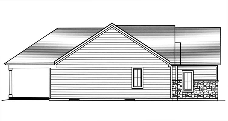Country House Plan - Hillsdale 22443 - Left Exterior