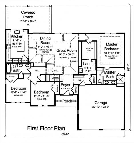 Country House Plan - Hillsdale 22443