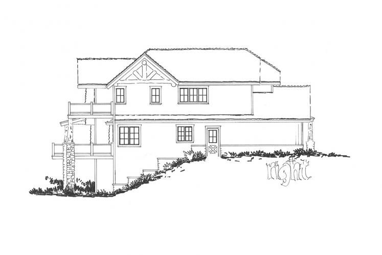 Lodge Style House Plan - Lake James 22510 - Right Exterior