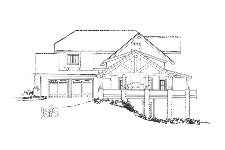 Traditional House Plan - Lake James 22510 - Left Exterior