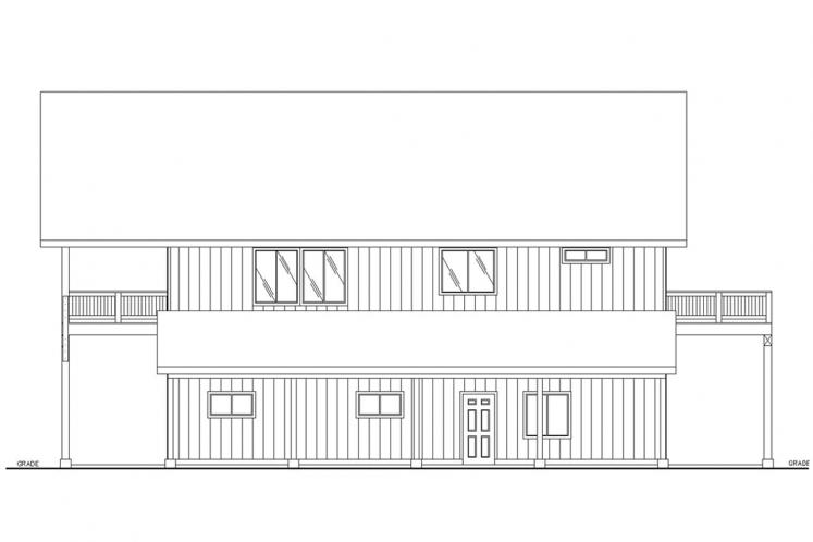 Lodge Style Garage Plan -  22592 - Right Exterior