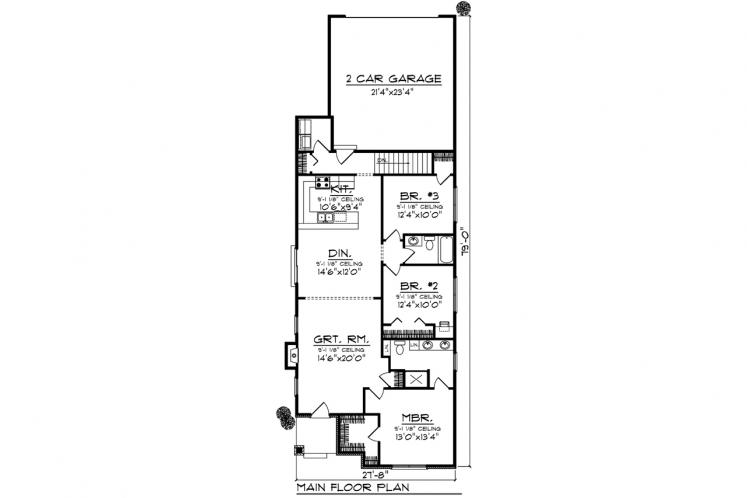 Cottage House Plan -  22603 - 1st Floor Plan