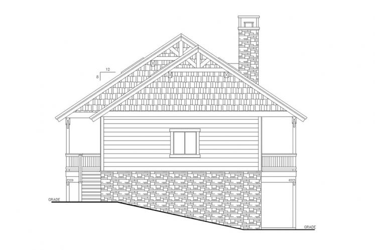 Lodge Style House Plan -  22619 - Left Exterior
