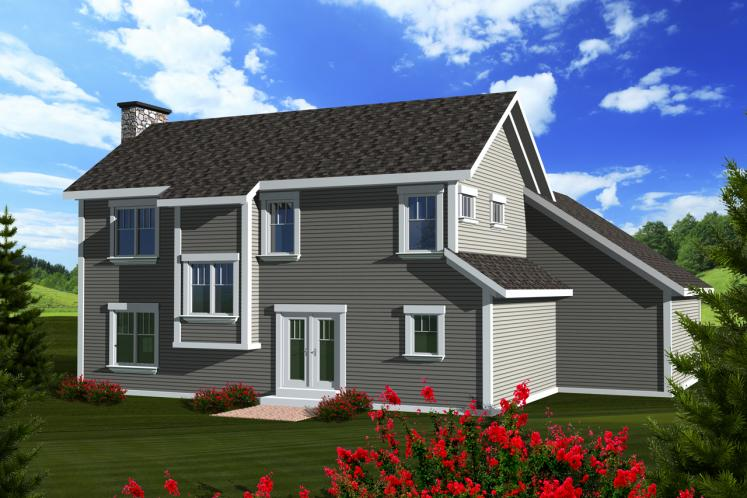 Traditional House Plan -  22654 - Rear Exterior