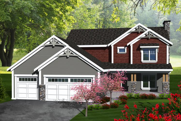 Craftsman House Plan -  22654 - Front Exterior